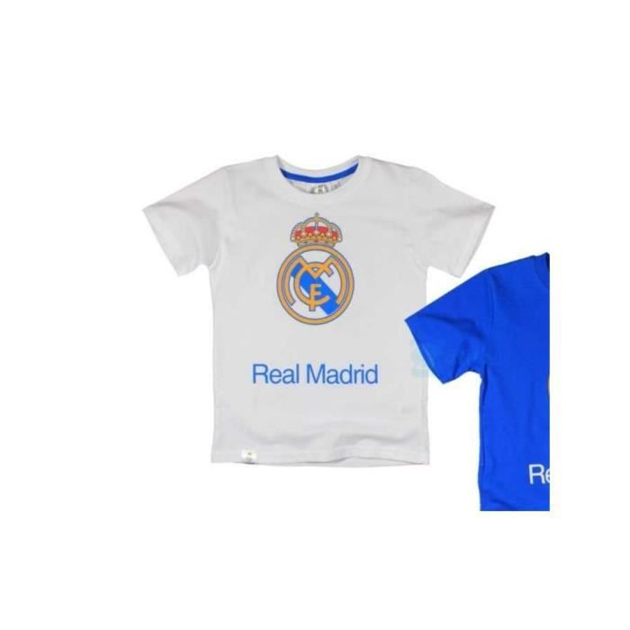 maillot enfants real madrid t shirt blanc 6 ans achat vente maillot polo de sport. Black Bedroom Furniture Sets. Home Design Ideas