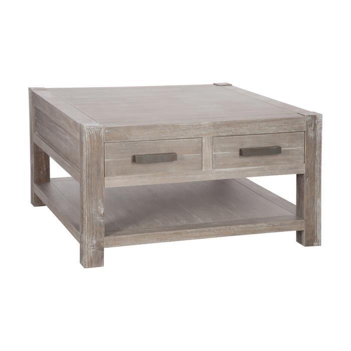 Table basse carr e en bois naturel 80x80x45cm achat - Table basse en bois naturel ...