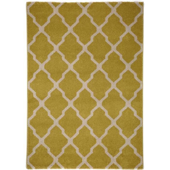 benuta tapis lotus jaune 300x400 cm achat vente tapis cdiscount. Black Bedroom Furniture Sets. Home Design Ideas