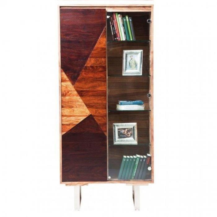 Vitrine wild 2 portes en bois massif et verre achat - Model vitrine en bois ...