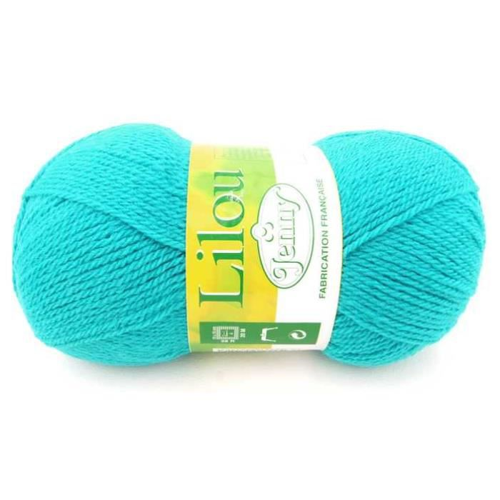 grosse pelote laine 150g jenny lilou bleu tur achat vente laine a tricoter pelote. Black Bedroom Furniture Sets. Home Design Ideas