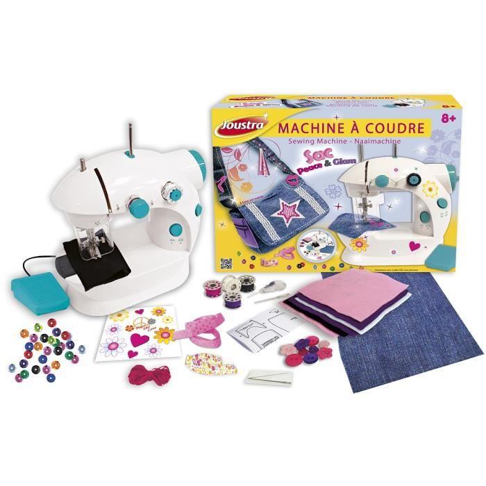 joustra machine coudre pour petite fille avec sac besace. Black Bedroom Furniture Sets. Home Design Ideas