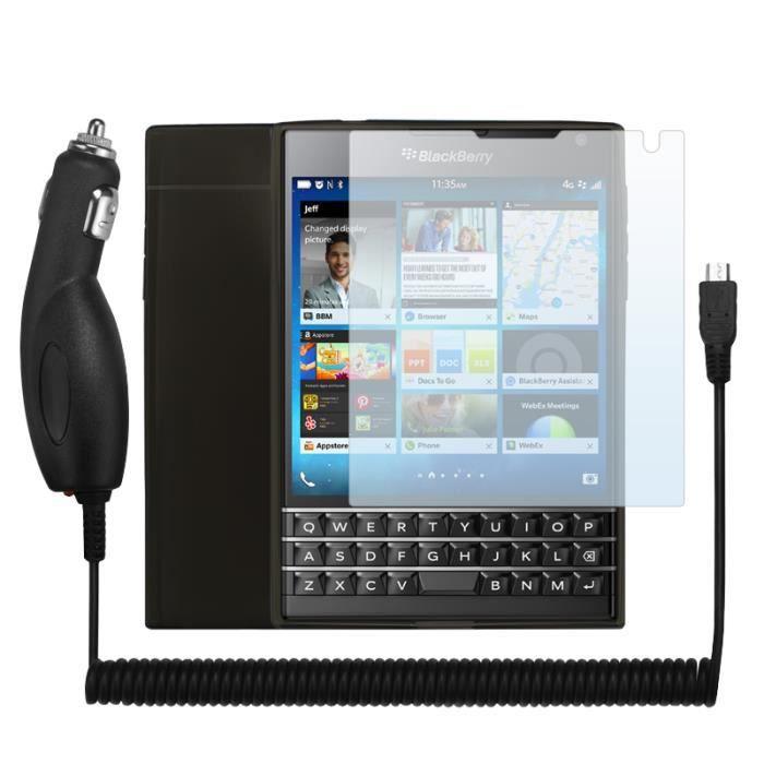 pack de voyage pour blackberry passport coque de protection en gel flex tpu noir 3 films. Black Bedroom Furniture Sets. Home Design Ideas