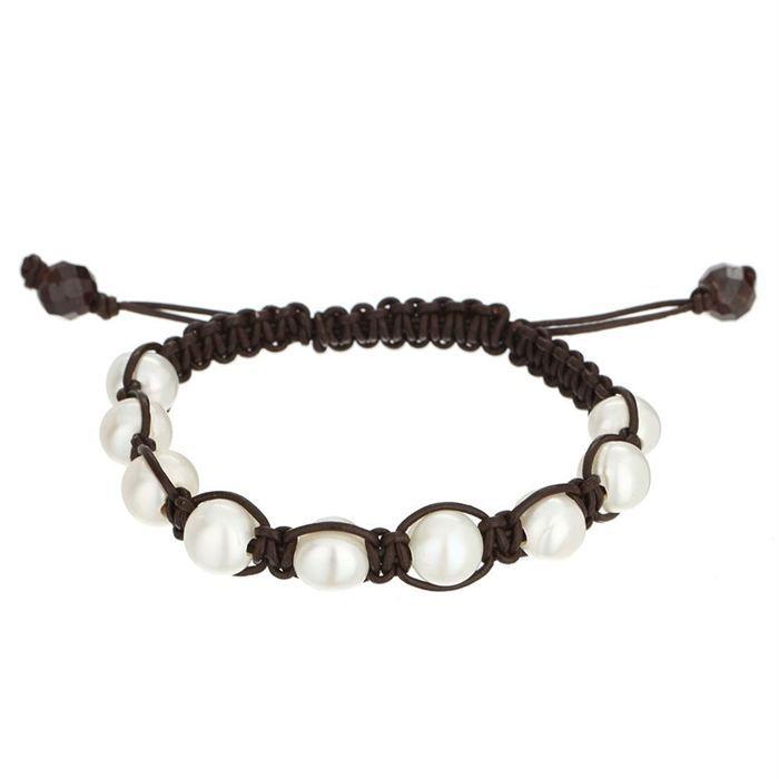 nacre de perle bracelet femme marron achat vente bracelet gourmette nacre de perle. Black Bedroom Furniture Sets. Home Design Ideas