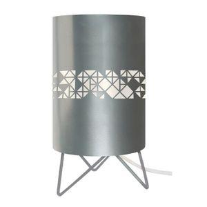 LAMPE A POSER IKATE CARRÉS  Lampe a poser Cylindre, hauteur 27 c