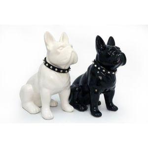 Statue bouledogue achat vente statue bouledogue pas for Decoration chien resine