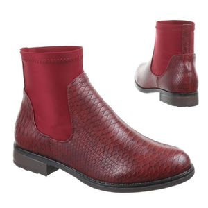 chaussures r boots femme rouge