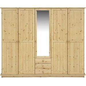 armoire 5 portes avec miroirs achat vente armoire 5. Black Bedroom Furniture Sets. Home Design Ideas