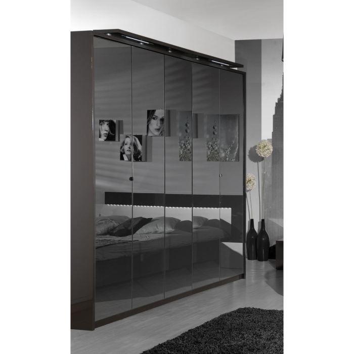 Object moved - Penderie 1 porte avec miroir ...