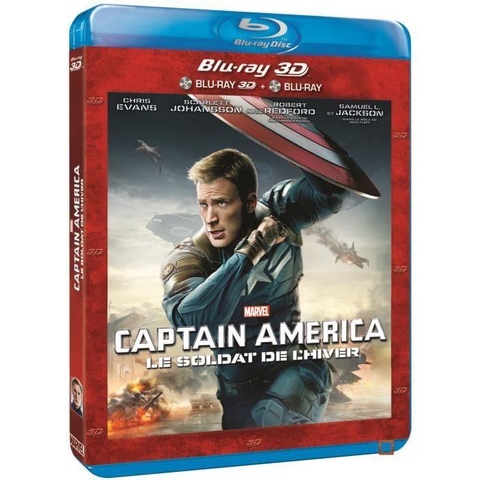 BLU-RAY FILM Blu-Ray 3D CAPTAIN AMERICA LE SOLDAT DE L'HIVER