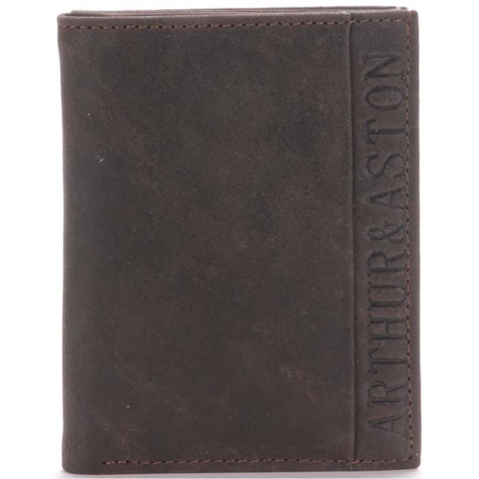 Porte cartes homme arthur aston marron achat vente for Porte carte homme