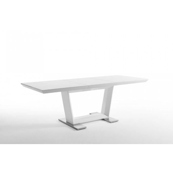 Table manger extensible yard couleur blanc ma achat for Table a manger extensible