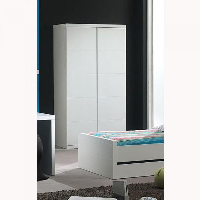 armoire dressing enfant 2 portes lara couleur b achat vente armoire de chambre armoire. Black Bedroom Furniture Sets. Home Design Ideas