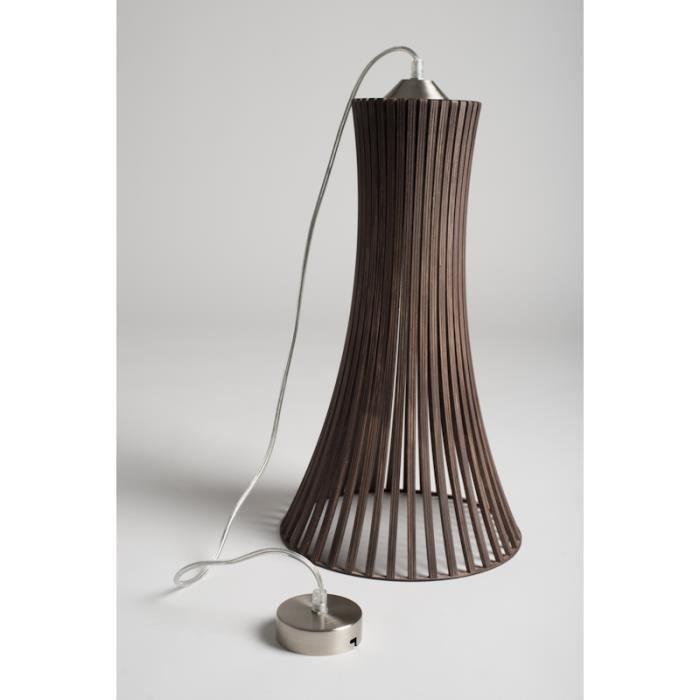 mk design plafonnier lustre suspension en bois kavia xl marron achat vente plafonnier. Black Bedroom Furniture Sets. Home Design Ideas