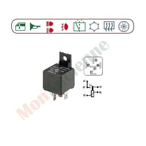 relais 12 volt continue 5 bornes lamellaires achat. Black Bedroom Furniture Sets. Home Design Ideas