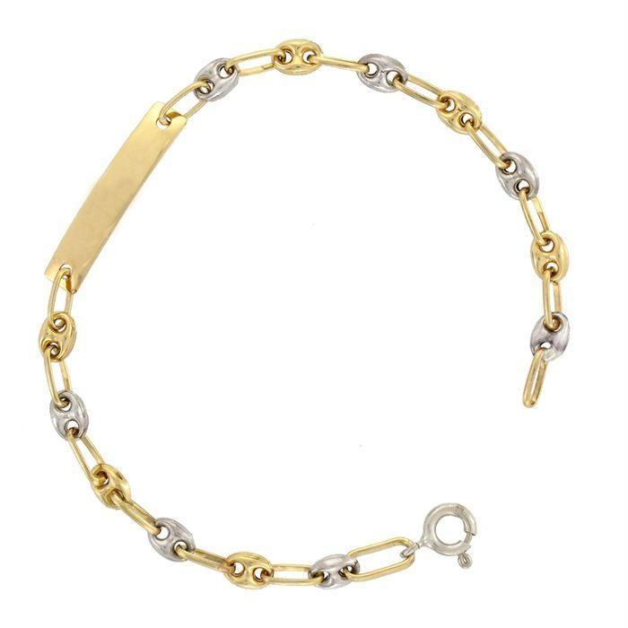 r ve de diamants gourmette b b achat vente bracelet gourmette r ve de diamants or blanc. Black Bedroom Furniture Sets. Home Design Ideas
