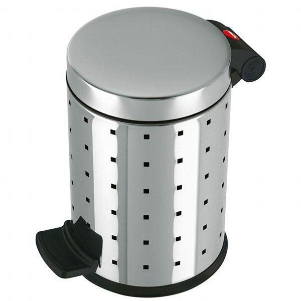 Hailo poubelle de salle de bains 4 litres inox achat - Poubelle de salle de bain inox ...