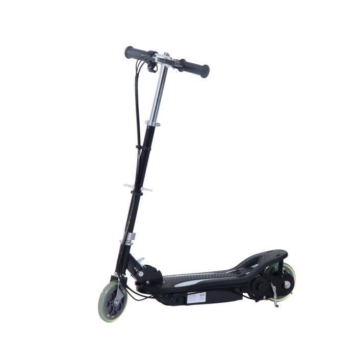 trottinette patinette electrique plus de 8 ans 120w 12km h hauteur r glable avec frein main. Black Bedroom Furniture Sets. Home Design Ideas