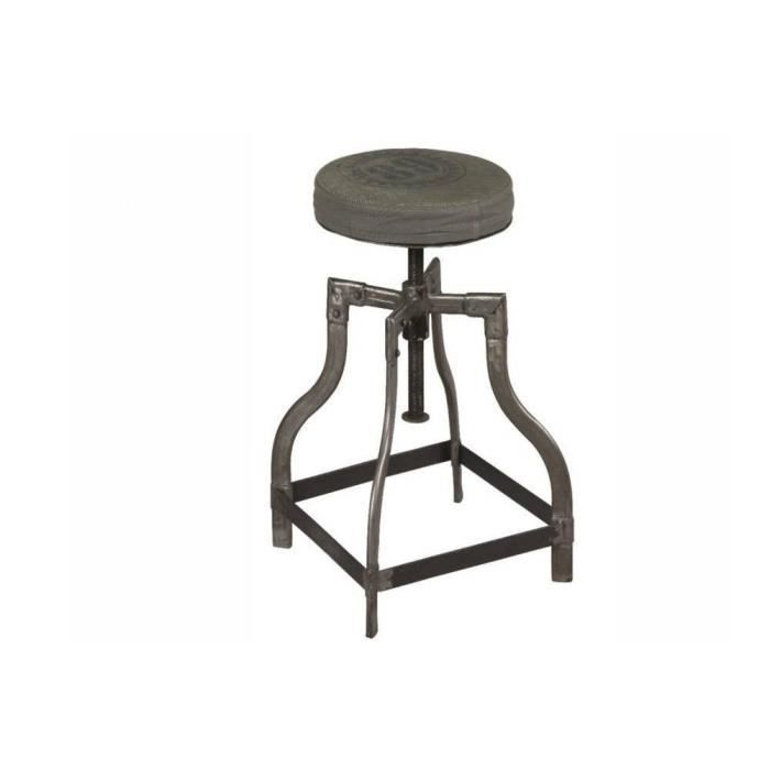 tabouret industriel sixtine en acier brut achat vente tabouret vert cdiscount. Black Bedroom Furniture Sets. Home Design Ideas