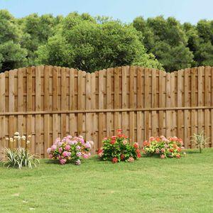 CLÔTURE - BARRIÈRE Panneau de clôture arqué en bois avec planches int