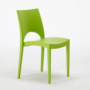 Chaises vertes salle a manger achat vente chaises for Chaise salle a manger vert anis