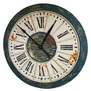 horloge style industriel achat vente horloge style industriel pas cher cdiscount. Black Bedroom Furniture Sets. Home Design Ideas
