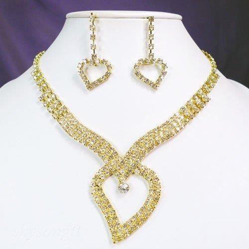 parure de bijoux mariage coeur d 39 or achat vente parure parure de bijoux mariage c dor. Black Bedroom Furniture Sets. Home Design Ideas