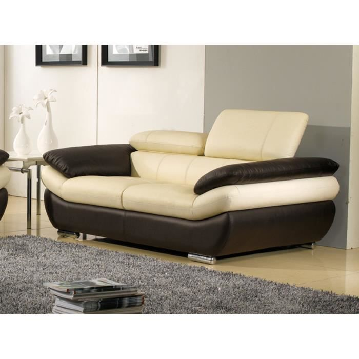 Canape cuir beige - Canape cuir la redoute ...