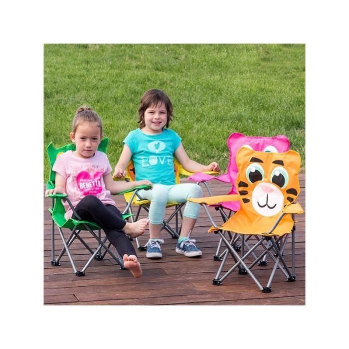 chaise pliable pour enfants amimaux tigre achat vente chaise cdiscount. Black Bedroom Furniture Sets. Home Design Ideas