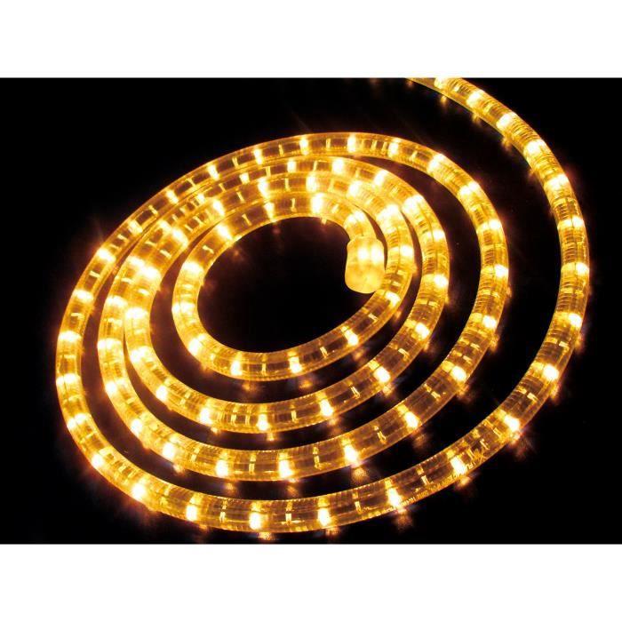 cordon lumineux clair ext rieur fixe 9 m tres achat vente guirlande d 39 exterieure cordon. Black Bedroom Furniture Sets. Home Design Ideas