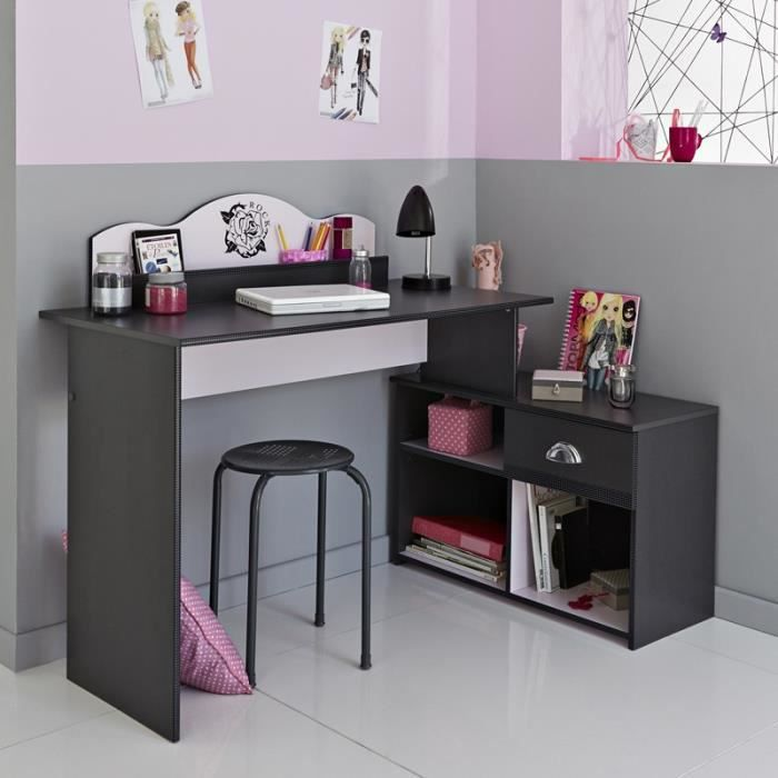 paris prix bureau enfant flora gris achat vente bureau paris prix bureau enfant. Black Bedroom Furniture Sets. Home Design Ideas