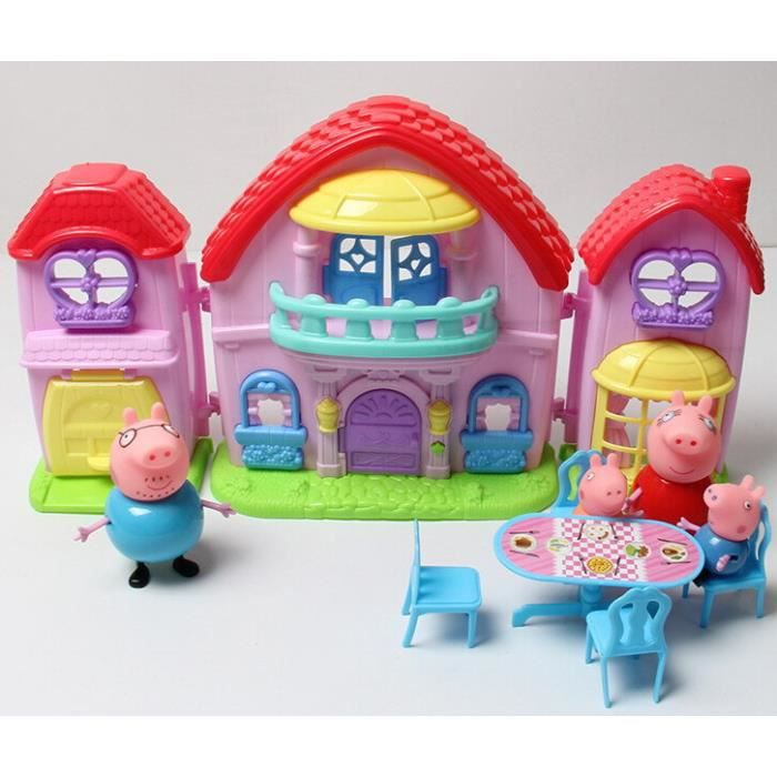 str 174 figurine peppa pig jouet lot de 4 maison et la table