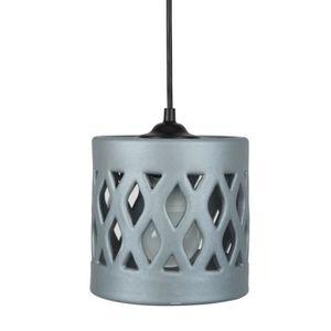 COVO Lustre - suspension céramique, diam?tre 14,5 cm,cylindre trous hexagone, aluminium