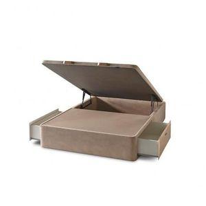 sommier coffre en bois luxe mixte 90x190 achat vente sommier cdiscount. Black Bedroom Furniture Sets. Home Design Ideas