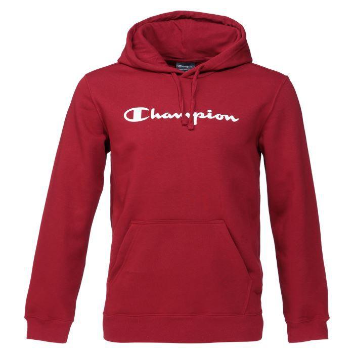 champion sweatshirt capuche homme rouge achat vente sweat shirt de sport cdiscount. Black Bedroom Furniture Sets. Home Design Ideas