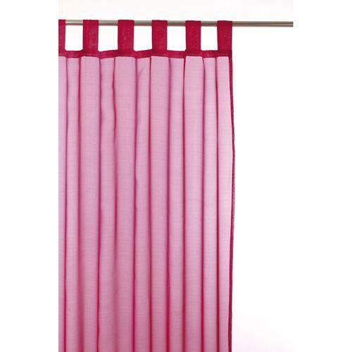 voilage passant 140 x 240 cm framboise achat vente rideau voilage voilage passant. Black Bedroom Furniture Sets. Home Design Ideas