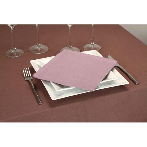 4 serviettes de table 40 x 40 cm parme achat vente - Presentation serviette de table ...