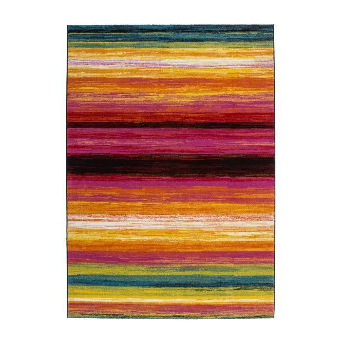 tapis de salon moderne multicolor 120x170 cm achat vente tapis cdiscount. Black Bedroom Furniture Sets. Home Design Ideas