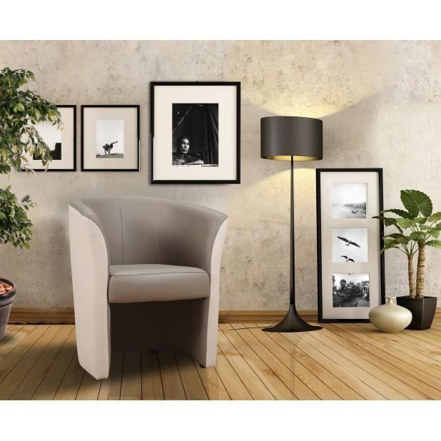 Fauteuil cabriolet taupe ivoire achat vente fauteuil gris cdiscount - Fauteuil cabriolet taupe ...