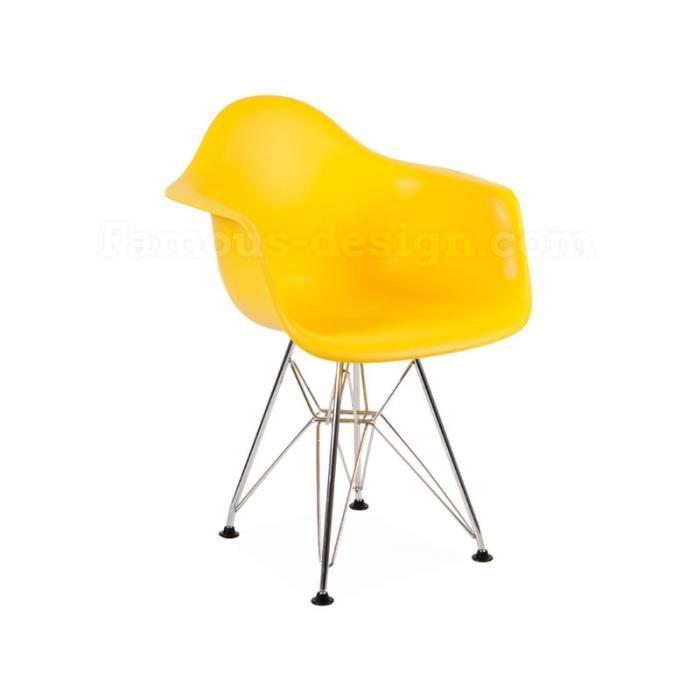 chaise enfant eames dar jaune achat vente chaise cdiscount. Black Bedroom Furniture Sets. Home Design Ideas