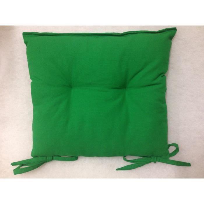 Coussin de chaise 40x40 haute qualit 840gr verte achat - Coussin de chaise ...