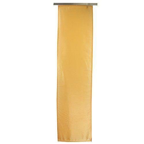 g zze panneau japonais dakar rideau coulissant 245x60 cm voile opaque effet soie uni jaune. Black Bedroom Furniture Sets. Home Design Ideas