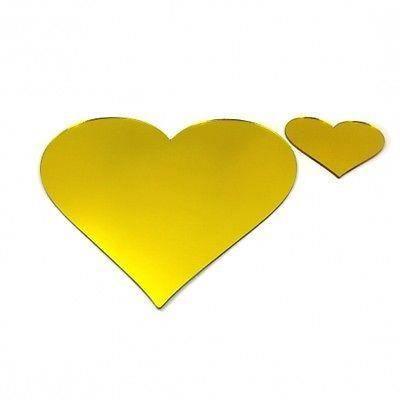 6 jaunes napperons miroir de coeur et sous verres achat for Miroir acrylique incassable