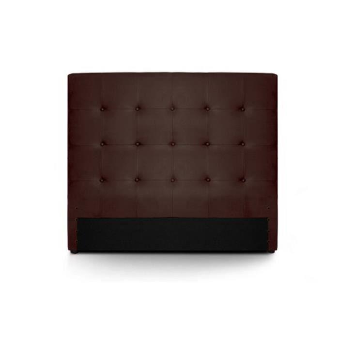 tete de lit 140 capitonne cuir marron romeo achat vente t te de lit tete de lit 140. Black Bedroom Furniture Sets. Home Design Ideas