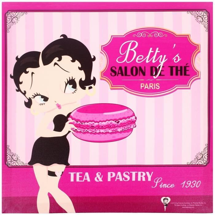 Tableau Cadre Toile Licence Betty Boop Vintage Cuisine USA Betty's
