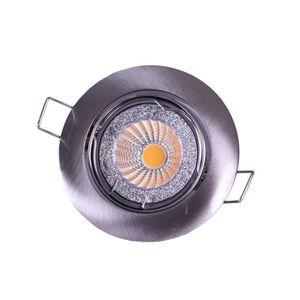 Spot encastrable LED diam?tre 8,2 cm GU10 5W équivalent ? 40W chrome