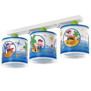 LUSTRE ET SUSPENSION RAMPE 3 LAMPES PIRATES