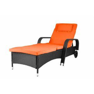 Fauteuil transat jardin achat vente fauteuil transat for Fauteuil bain de soleil pas cher