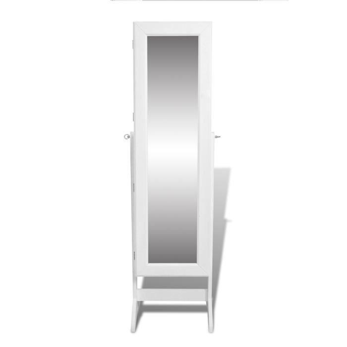 Armoire bijoux miroir placard rangement blanc achat - Meuble rangement bijoux miroir ...