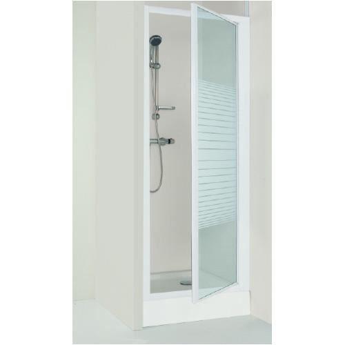 Porte de douche fd90sp 90x185 cm achat vente cabine de for Installation porte de douche